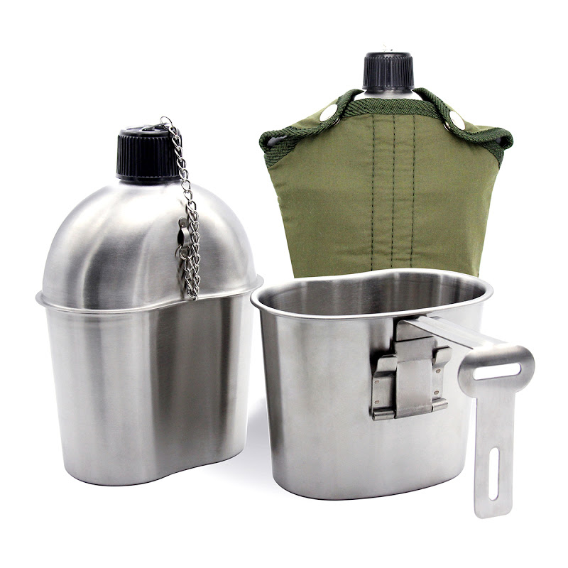 stainless steel canteen